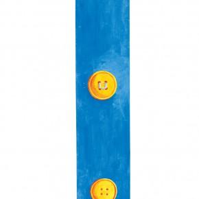 """199 Tang Hui """"The Buttons"""" acrylic on board 22 x 200 cm 1999 290x290 - Tang Hui"""