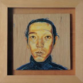 """205 Tang Hui, """"SHIMABUKU"""", acrylic on board, 22 x 22 cm, 1997"""