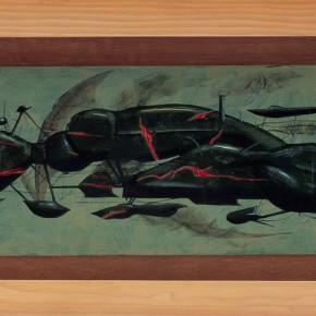 """207 Tang Hui """"Moth"""" acrylic on board 45 x 15 cm 1997  290x290 - Tang Hui"""