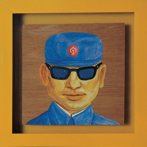 "209 Tang Hui ""Worker"" acrylic on canvas 22 x 22 cm 1997 290x290 - Tang Hui"