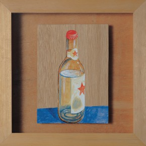 "211 Tang Hui, ""Red Star Liquor"", acrylic on board, 22 x 22 cm, 1997"