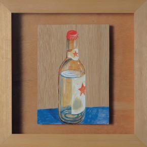 "211 Tang Hui ""Red Star Liquor"" acrylic on board 22 x 22 cm 1997 290x290 - Tang Hui"