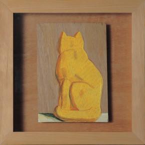 """213 Tang Hui """"Cat"""" acrylic on board 22 x 22 cm 1997 290x290 - Tang Hui"""