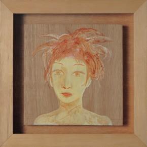 "216 Tang Hui ""Girl on the Yamanote"" acrylic on board 22 x 22 cm 1997 290x290 - Tang Hui"