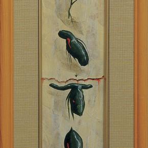 """218 Tang Hui """"Writing No.1"""" acrylic on board 36 x 6 cm 1997 290x290 - Tang Hui"""