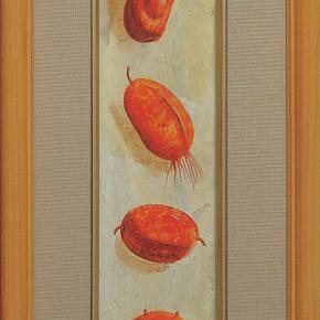 """219 Tang Hui """"Writing No.2"""" acrylic on board 36 x 6 cm 1997 290x290 - Tang Hui"""