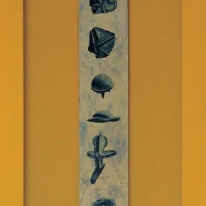 """220 Tang Hui """"Writing No.3"""" acrylic on board 36 x 6 cm 1997 290x290 - Tang Hui"""