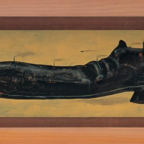 """222 Tang Hui """"Factory of Shoe"""" acrylic on board 45 x 15 cm 1997 290x290 - Tang Hui"""