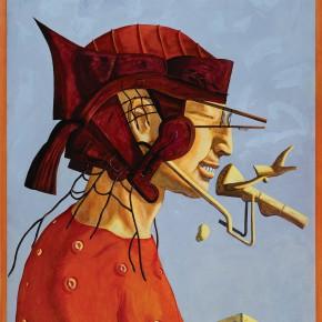 "224 Tang Hui ""Just a Greeting""No.1 acrylic on canvas 91 x 116 cm 1997 290x290 - Tang Hui"