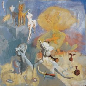 "228 Tang Hui ""The Elements"" acrylic on canvas 110 x 110 cm 1996 290x290 - Tang Hui"