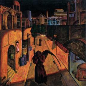 """230 Tang Hui """"A City of Sadness"""" acrylic on canvas 55 x 55 cm 1994 290x290 - Tang Hui"""