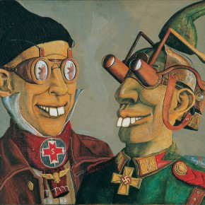 """233 Tang Hui """"Let's Compare Our Teeth"""" acrylic on canvas 60 x 50 cm 1995  290x290 - Tang Hui"""