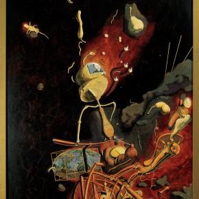 "234 Tang Hui ""Machine of Time"" acrylic on canvas 110 x 220 cm 1995 290x290 - Tang Hui"
