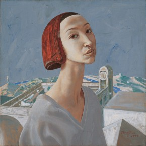 "236 Tang Hui, ""Tang Xin"", acrylic on canvas, 55 x 55 cm, 1995"