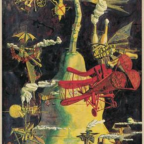 "239 Tang Hui ""A Red Aircraft"" acrylic on canvas 110 x 220 cm 1993 290x290 - Tang Hui"