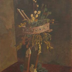 "241 Tang Hui ""The Opera"" oil painting and acrylic painting 35 x 45 cm 1991 290x290 - Tang Hui"
