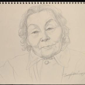 "244 Tang Hui ""Grandma"" drawing 1993 290x290 - Tang Hui"