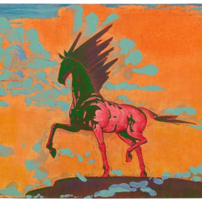 "27 Tang Hui, ""Horse No.1"", acrylic on canvas, 120 x 100 cm, 2012"