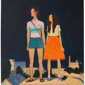 "29 Tang Hui, ""The Monument Series – Couples"", acrylic on canvas, 50 x 60 cm, 2013"