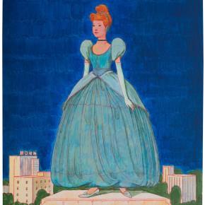 "30 Tang Hui ""The Monument Series – Cinderella"" acrylic on canvas 50 x 60 cm 2013  290x290 - Tang Hui"