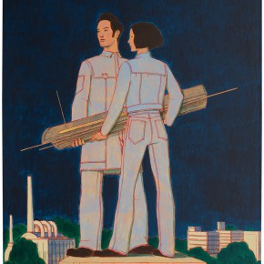 "31 Tang Hui, ""The Monument Series – Workers"", acrylic on canvas, 50 x 60 cm, 2013"