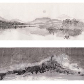 "34 Wang Mengshi ""Remnants Mountains and River"" No.1 No.2 290x290 - ""The Rush – Exhibition for Young Artists from CAFA"" Unveiled at Times Art Museum"