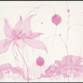 "36 Tang Hui, ""Shape of the Purple No.3"", watercolor on paper, 109.5 x 79 cm, 2012"