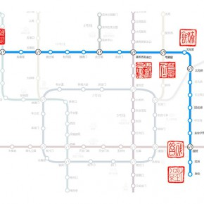 """36 Xu Weiqi """"Beijing Subway Line 10""""  290x290 - """"The Rush – Exhibition for Young Artists from CAFA"""" Unveiled at Times Art Museum"""