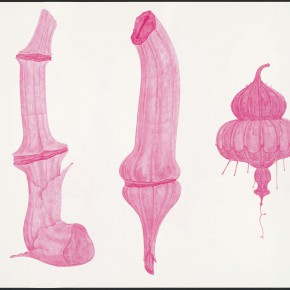 "37 Tang Hui, ""Shape of the Purple No.2"", watercolor on paper, 109.5 x 79 cm, 2012"