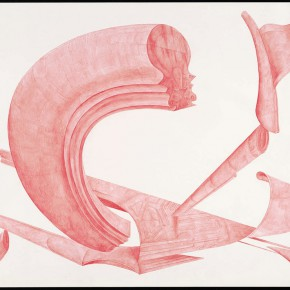 "42 Tang Hui, ""Shape of the Faith No.3"", watercolor on paper, 109.5 x 79 cm, 2012"