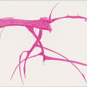 "47 Tang Hui, ""Shape of the Rose Pink No.7"", watercolor on paper, 109.5 x 79 cm, 2012"