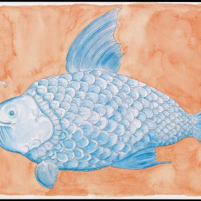 "53 Tang Hui, ""Fish No.1"" water color on paper, 26 x 20 cm, 2012"