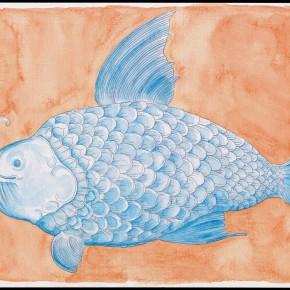 "53 Tang Hui ""Fish No.1"" water color on paper 26 x 20 cm 2012 290x290 - Tang Hui"