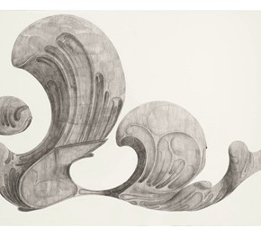 "56 Tang Hui, ""Shape of the Black No.1"", watercolor on paper, 328.5 x 79 cm, 2012"