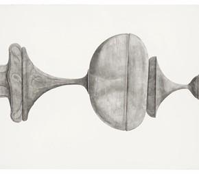 "57 Tang Hui ""Shape of the Black No.2"" watercolor on paper 328.5 x 79 cm 2012  290x254 - Tang Hui"