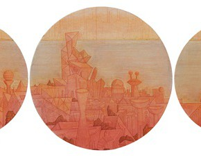 "59 Tang Hui ""Riverside City"" acrylic on canvas 100 x 490 cm 2011 290x226 - Tang Hui"