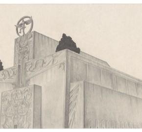 "62 Tang Hui ""Square Series No.12"" aluminum sketch 120 x 30 cm 2011 290x268 - Tang Hui"