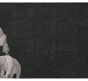 "68 Tang Hui ""Square Series No.6"" aluminum sketch 120 x 30 cm 290x269 - Tang Hui"