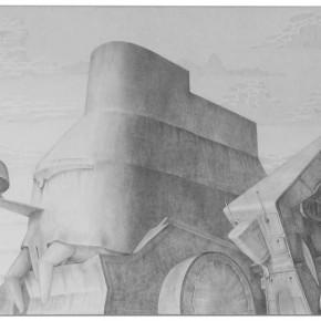 "74 Tang Hui ""Square Series No.14"" aluminum sketch 120 x 60 cm 290x290 - Tang Hui"
