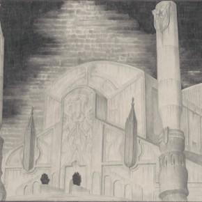 "77 Tang Hui ""Square Series No.10 detail"" aluminum sketch 120 x 30 cm 290x290 - Tang Hui"