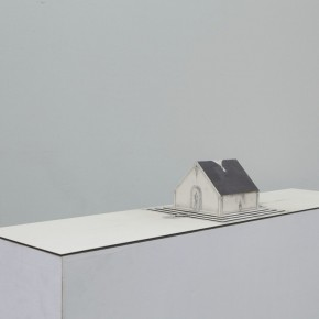 86 Tang Hui, Square Model No.4, installation, 120 x 30 x 12 cm