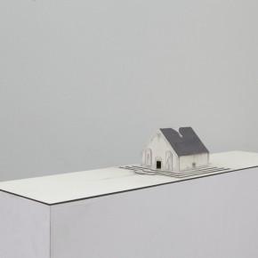 87 Tang Hui, Square Model No.4-2, installation, 120 x 30 x 12 cm