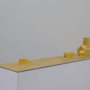 88 Tang Hui, Square Model No.3, installation, 120 x 30 x 12 cm