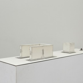 89 Tang Hui, Square Model No.2, installation, 120 x 30 x 12 cm