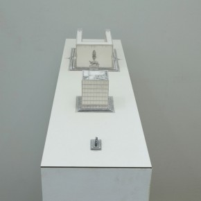 90 Tang Hui, Square Model No.2-4, installation, 120 x 30 x 13 cm