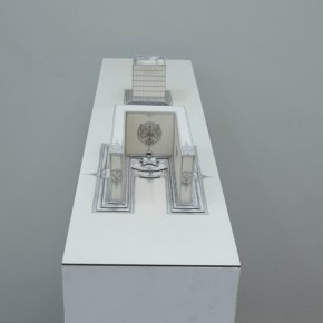 91 Tang Hui, Square Model No.2-3, installation, 120 x 30 x 13 cm