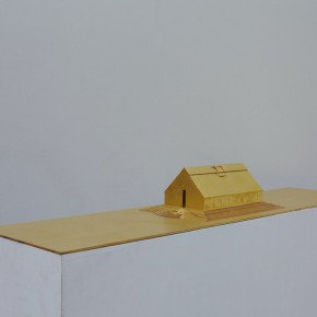 93  Tang Hui, Square Model No.1, installation, 120 x 30 x 13 cm