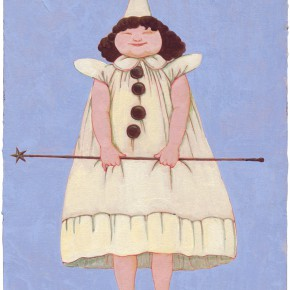 "98 Tang Hui, ""The Blue Sky Fairy"", 30 x 40 cm, acrylic on canvas, 2009"