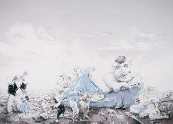 Shen Shubin, The Carnival in the Ruins No.3, 2014;  Oil on canvas, 250x180cm