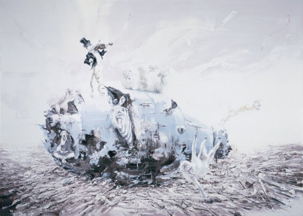 Shen Shubin, The Carnival in the Ruins No.4, 2014;  Oil on canvas, 250x180cm